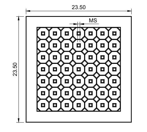 TEM grid - 23.5nm