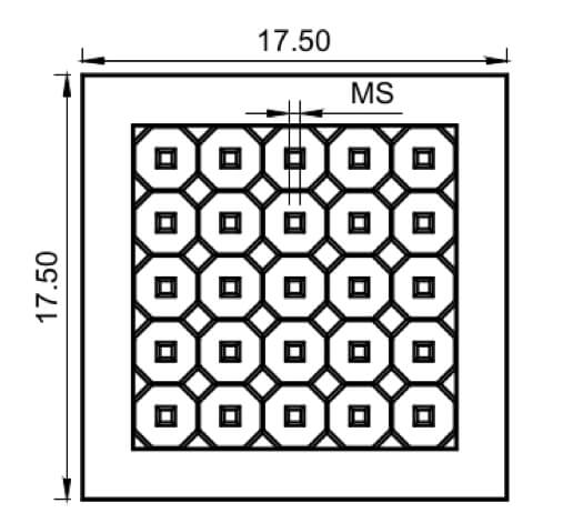 TEM multi-frame arrays