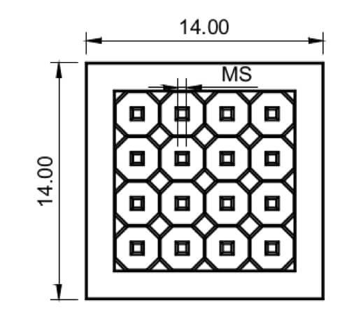 TEM multiframe array grid
